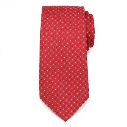 Klasyczny czerwony krawat w kwadraty