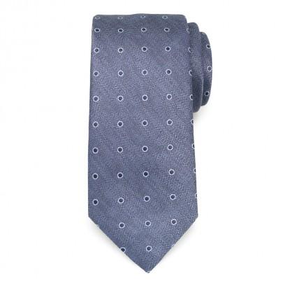 Klasyczny niebieski krawat w groszki