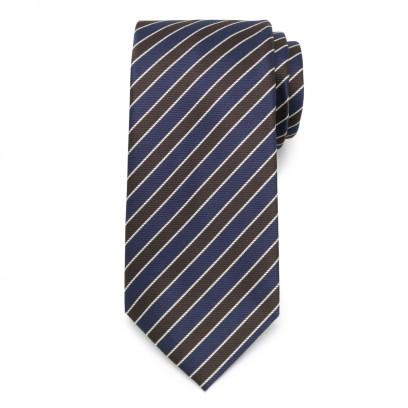 Klasyczny krawat w granatowe i pasy