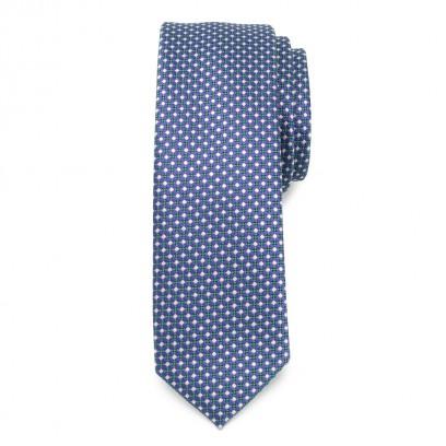 Wąski krawat w kolorową kratkę