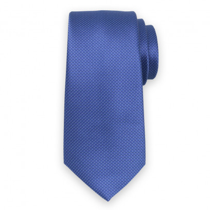 Klasyczny niebieski krawat w prążek