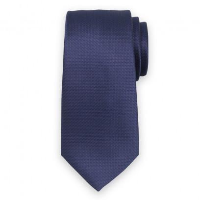 Klasyczny ciemnogranatowy krawat w prążek