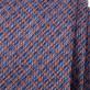 Wąski niebieski krawat w kratkę
