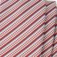 Wąski czerwony krawat w paski, pepitkę i prążek