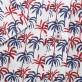 Biała taliowana koszula w palmy