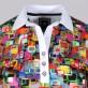 Koszulka polo w kolorowe kwadraty