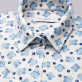 Kremowa bluzka dzianinowa oversize w niebieskie kwiaty