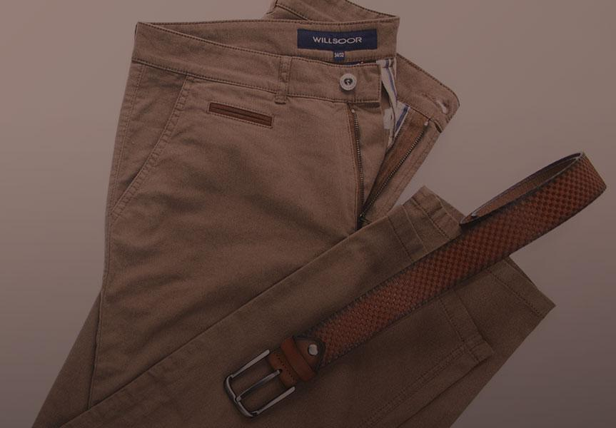 Spodnie chinosy męskie